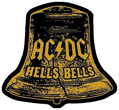 AC/DC ACDC - Patch Aufnäher Hells Bells Cut Out 9x10cm