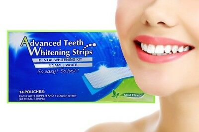 +28 Home 3D Teeth Whitening Strips-14 Day Course-28 Strips In Total++Uk Seller+