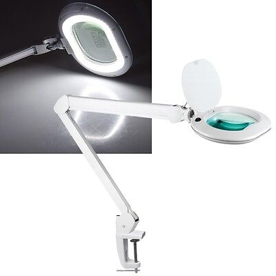 LED Loupe lumineuse 800lm DIMMABLE avec Pince de table EEK A+ 3 Dioptries Lampe