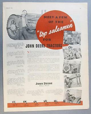 Original 1946 John Deere Tractor Ad Photo Endorsed Melvin Todd of Union Nebraska