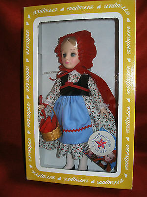 """Effanbee Storybook Doll, LTTLE RED RIDING HOOD, 11"""" w/ tags #1178 USA 1986"""