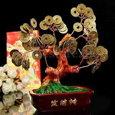 Chinese Feng Shui Money Tree Coin Buddhist Blessed Fortune Lucky Home Decor - XS