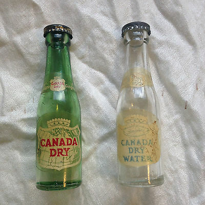 Vintage Canada Dry and Canada Dry Water Bottles Salt and Pepper Shakers