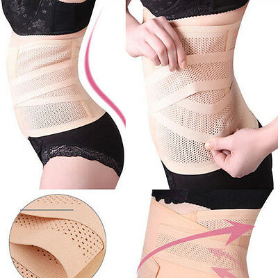 Unisex Adjustable Postpartum Recovery Belly Waist Belt Slimming Body Band Girdle