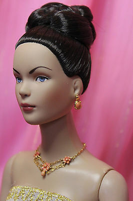 Franklin Mint Scarlett Ohara faux Coral necklace earrings fit 10-15in dolls OOP