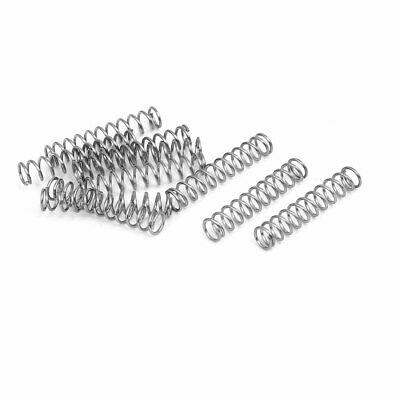 uxcell 0.5mmx10mmx25mm 304 Stainless Steel Compression Springs Silver Tone 10pcs