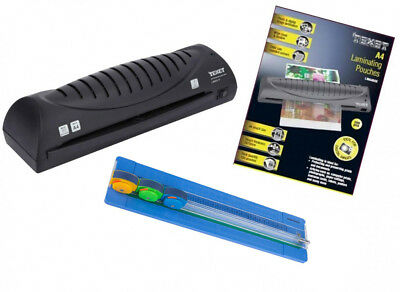Texet A4 Personal Laminator With A4 Paper Trimmer & 100 Laminating Pouches Rp008