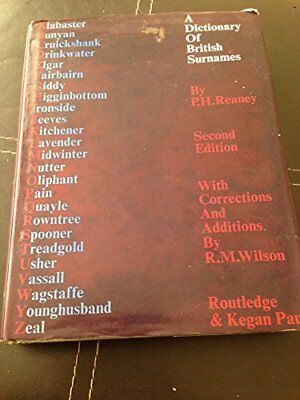 Dictionary of British Surnames Hardback Book The Cheap Fast Free Post