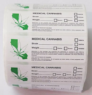 100x Califonia Medical Labels Stickers Squeezetops Pop Tops Vials RX 420