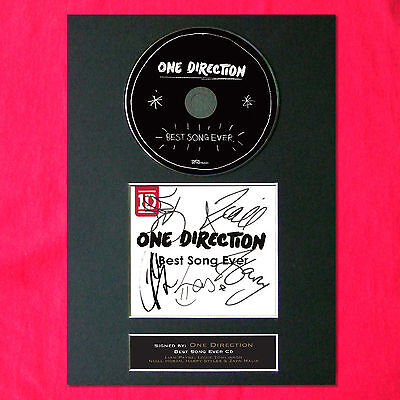 ONE DIRECTION 1D Best Song Ever Signed CD COVER MOUNTED A4 Autograph Print 54