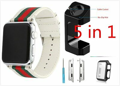 5 in 1 White Mix Colour Woven Wrist Band For Apple Watch  42mm Case Adapter