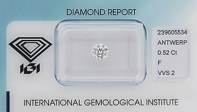 Diamant 0,52ct F VVS 2