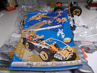 meccano multi models 50 with power tool and motor 605 parts 50 models