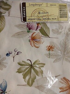 Longaberger Botanical Fields Liner for the Bakers Basket - MINT!  FREE Shipping