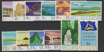 St.lucia Sg276/87 1970-3 Definitive Set To $1 Mnh