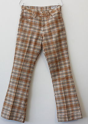 vintage 70s FARAH plaid FLARED PANTS size 27 x 29