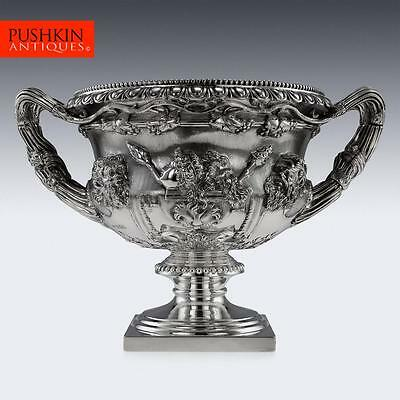 ANTIQUE 20thC EDWARDIAN SOLID SILVER WARWICK VASE, SIBRAY HALL & CO c.1904