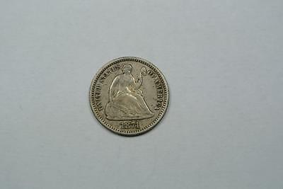 1871 Seated Liberty Half Dime, VF Condition- C2944