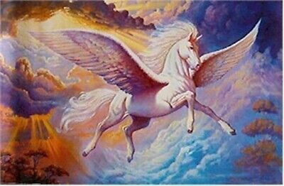 PEGASUS ~ FLYING HORSE 24x36 FANTASY ART POSTER NEW/ROLLED!