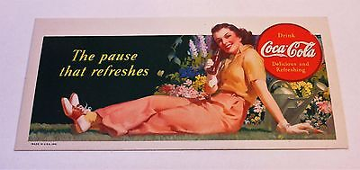 "Vintage Coca Cola 1941 Blotter ""The Pause that Refreshesl"""