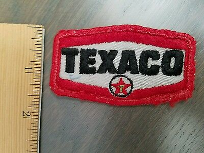 "Vintage Gas & Oil Service Station Used Texaco sew on Patch 1"" by 3"""