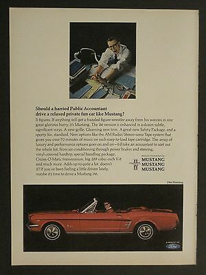 Vintage 1965 Ford Mustang Convertible Color Magazine Ad Red!!!!!!!!!