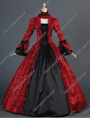 Renaissance Georgian Brocade Prom Dress Gown Reenactment Steampunk Theater 138