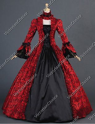 Renaissance Georgian Gothic Period Brocade Prom Gown Theater Wear Clothing N 138