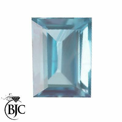 BJC® Loose Emerald Cut Natural Untreated Aquamarine Stones AA Grade Mixed Sizes