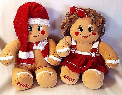Gingerbread Plush Cookie People Christmas Outfits 2004 Dan Dee 18""