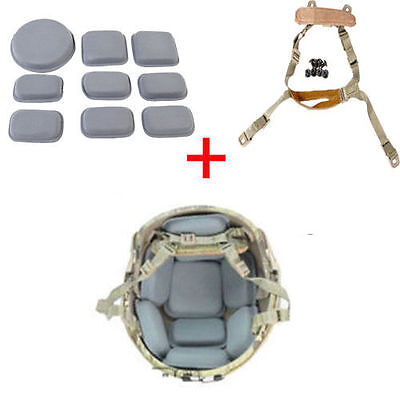Universal Tactical MICH ACH Helmet Retention System Protection Cushion Soft Pad
