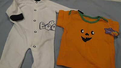 Halloween Sleeper & T-Shirt by Playschool Size 0-6 Mos. - NWT