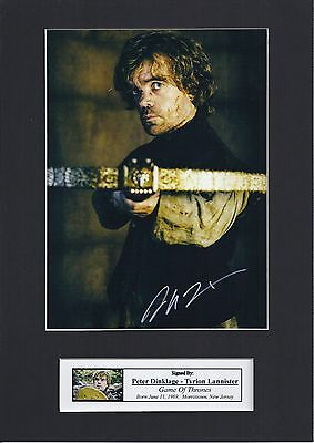 Peter Dinklage, Tyrion Lannister Game Of Thrones Signed Photo Mount Re-Print