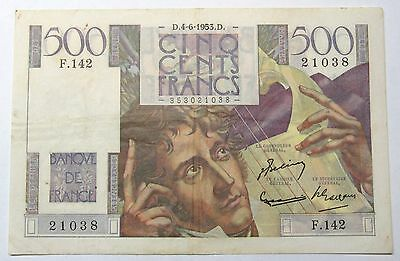- 500 Francs  - Chateaubriand - 4-6-1953 -