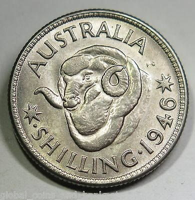 Australian 1946 King George VI Shilling - Uncirculated