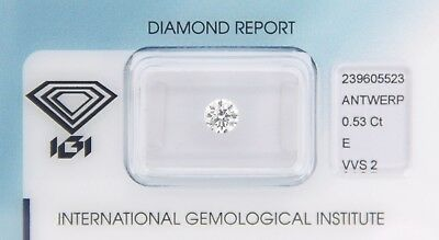 Diamond 0,53ct E VVS 2