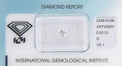 Diamond 0,53ct G VS 1