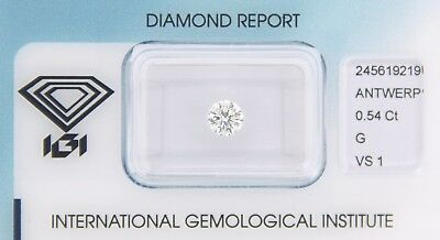Diamond 0,54ct G VS 1