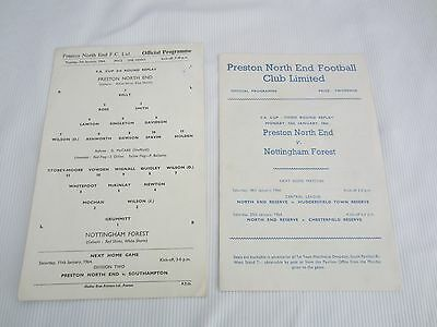1963-64 FA CUP 3RD ROUND REPLAY PRESTON NORTH END v NOTTINGHAM FOREST POSTPONED