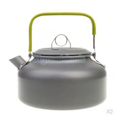 2x Portable Lightweight 0.8L Water Kettle Teapot for Outdoor Camping Picnic
