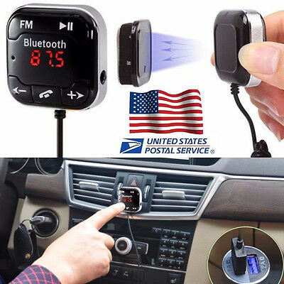 Bluetooth Wireless Car Kit FM Transmitter MP3 Player USB SD LCD Remote Handsfree
