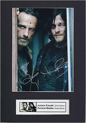 The Walking Dead, Norman Reedus ,Andrew Lincoln Signed Photo Mounted Display,PP