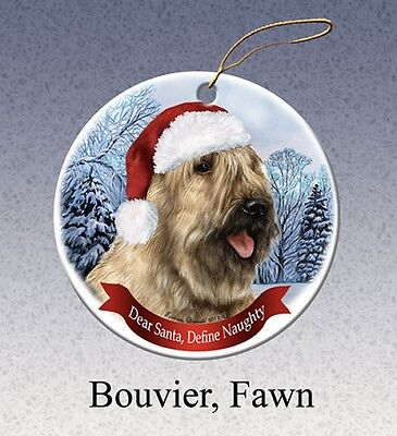 Dear Santa Define Naughty Ornament - Fawn Bouvier des Flandres HO036