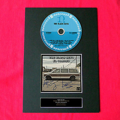 THE BLACK KEYS Album Signed CD COVER MOUNTED A4 Autograph Repro Print 34