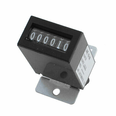 Black Plastic Shell DC12V YB-06 6 Digits Lockable Electromagnetic Counter