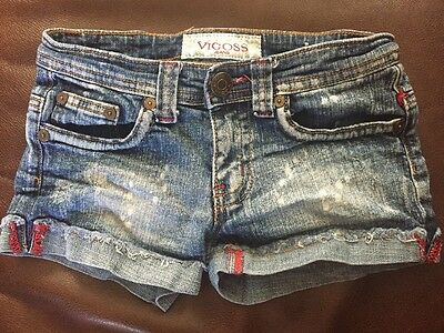 Girls VIGOSS DISTRESSED DENIM Shorts~Size 8~ EUC!