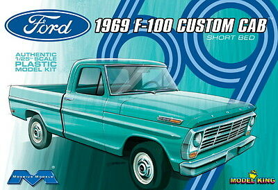 Moebius Models 1:25 1969 Ford F-100 Custom Cab Plastic Model Kit 1227 MOE1227
