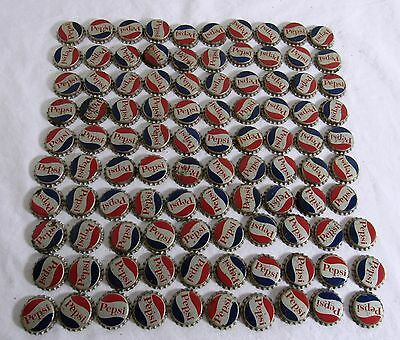 100 Vintage Pepsi Bottle Caps With Cork Backs Omaha Nebraska