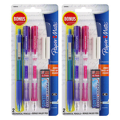 Paper Mate Clear Point 0.7mm Mechanical Pencil Starter Set, Set of 2