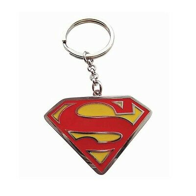 Genuine DC Comics 'Superman' Logo Enamel Metal Keyring Fob Key Ring Ideal Gift